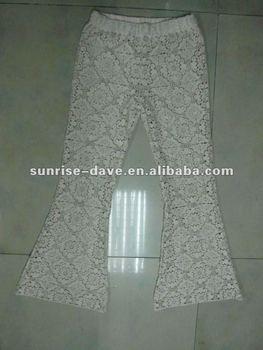 Crochet Pants With Flower Pattern Buy Flower Pattern Printed Pants