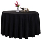 Factory provide custom size table clothes for events polyester black plain table cloth