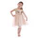 Hot baby girl clothes champagne color gauze kids bridal dresses