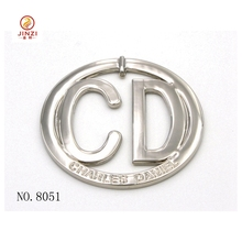 Handbag accessories manufacturers custom making letter CD and TA metal logo plates