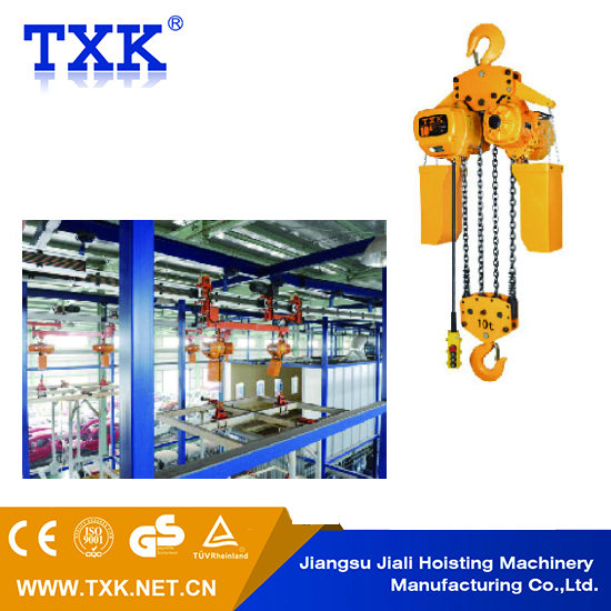 TXK 50t electric chain hoist,rope puller,rope jack