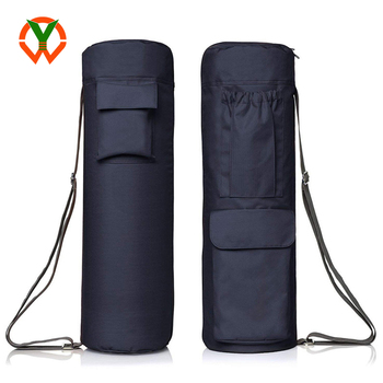 Full Zip Yoga Bag with Expandable Pocket and Water Bottle Holder