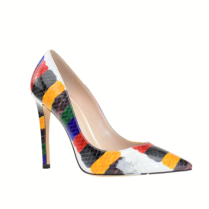 China wholesale famous italian shoes brand women snake skin high <strong>heel</strong> ladies