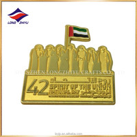 UAE National Day 42 Magnet Lapel Pin Magnetic Gold Lapel Pins