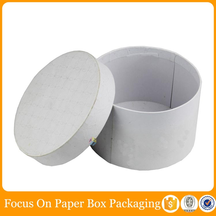 for gift storage cardboard white hat boxes with lids