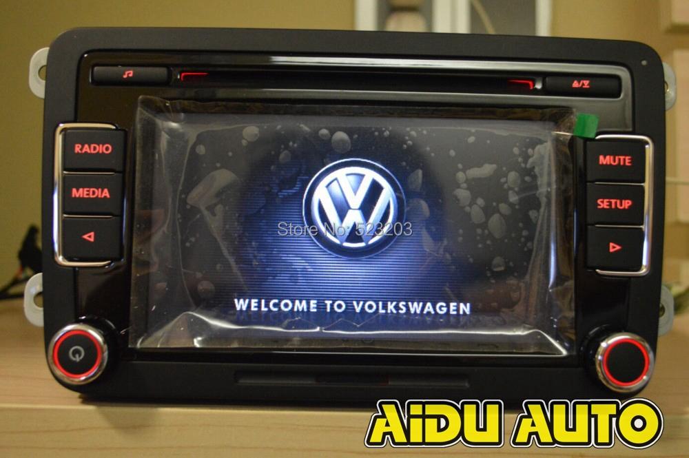 Vw оригинальный OEM автомобильный поддержка USB камера рвк радио головное устройство для гольф-1 5 6 Jetta CC Tiguan Passat RCD510 с кодом