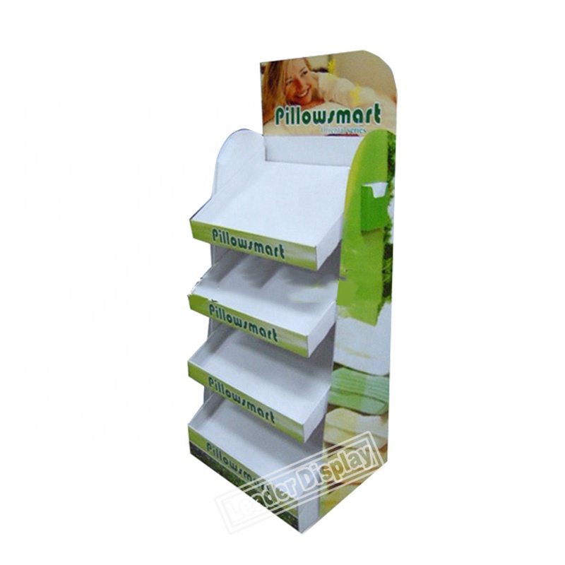 promotional retail advertising cardboard pillow display stand