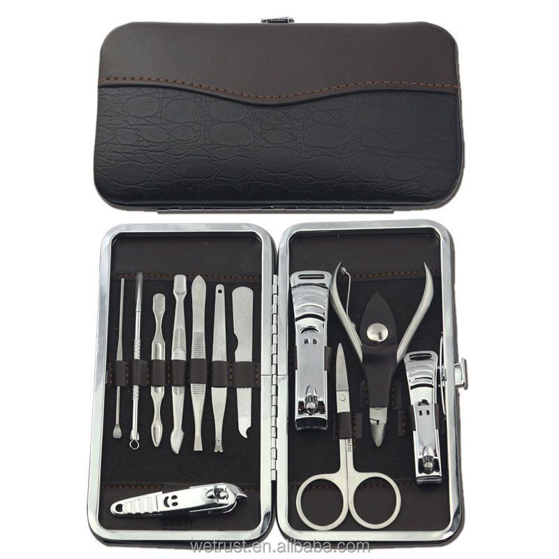 Stainless Steel Nail Care Tool Sets 12 Piece Manicure Pedicure Set