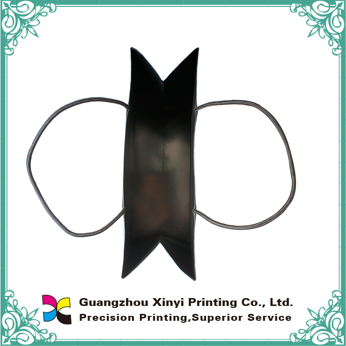 New products black fancy paper bags printing