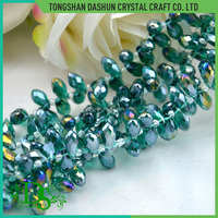 Pujiang crystal teardrop glass beads for jewelry making