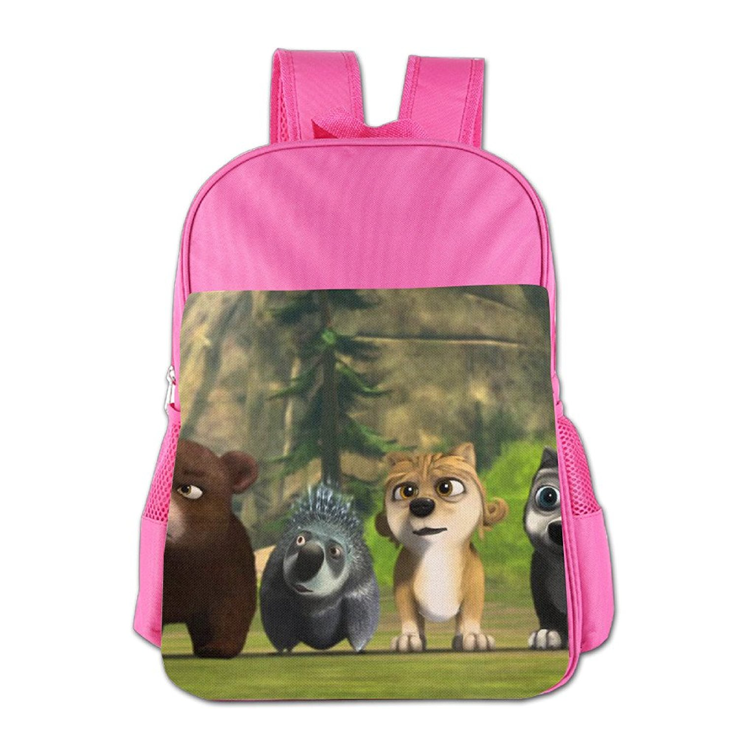 The Great Wolf Games Alpha And Omega 3 Children School Backpack Pink