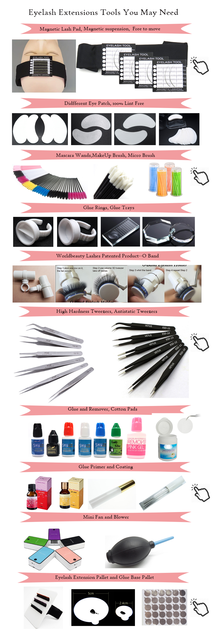 Lash Kit With Mannequin Head Lash Tinting Kit Lash Tool Cleaner