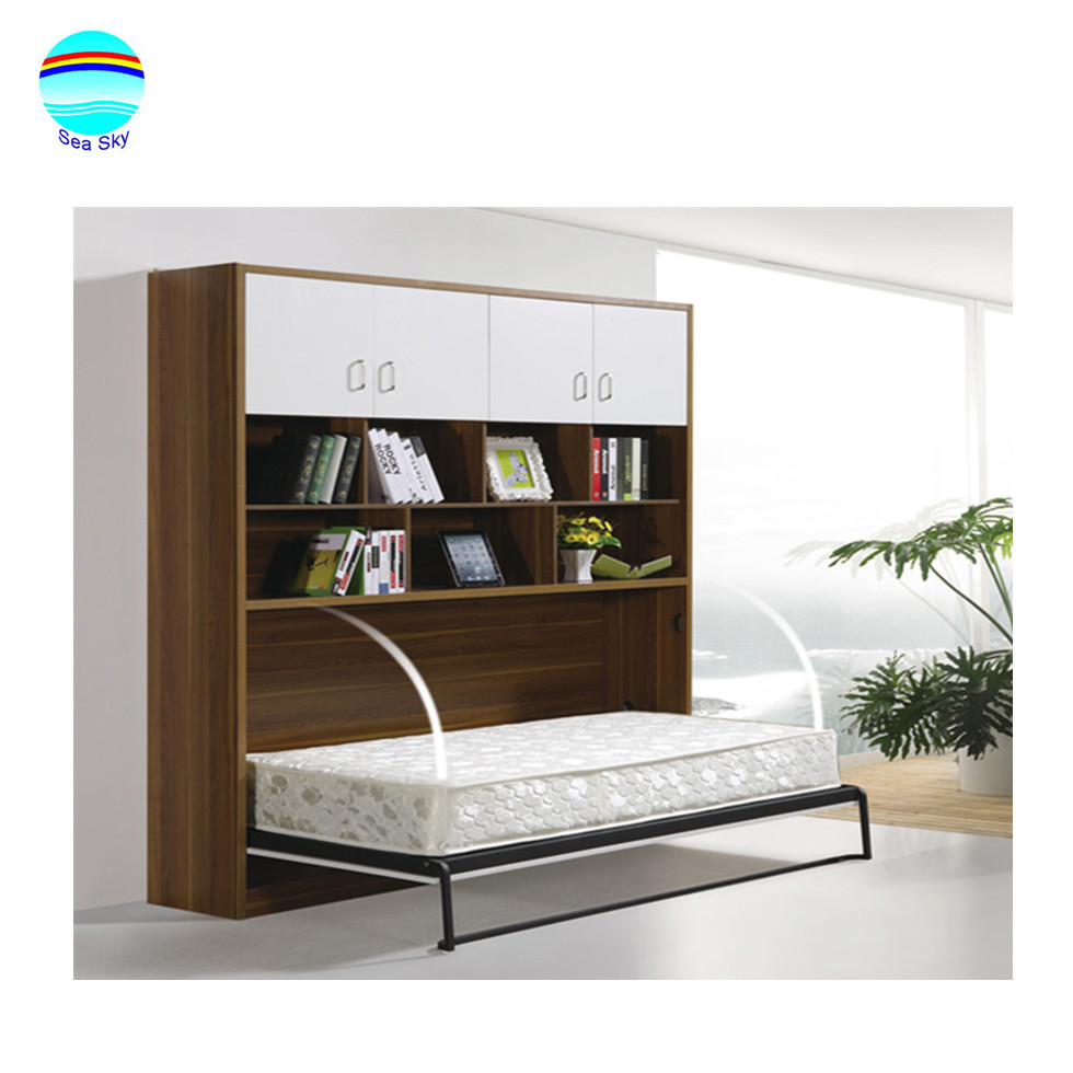 - Hot Sale Folding Bed High Quality Murphy Bed Horizontal Wall Bed