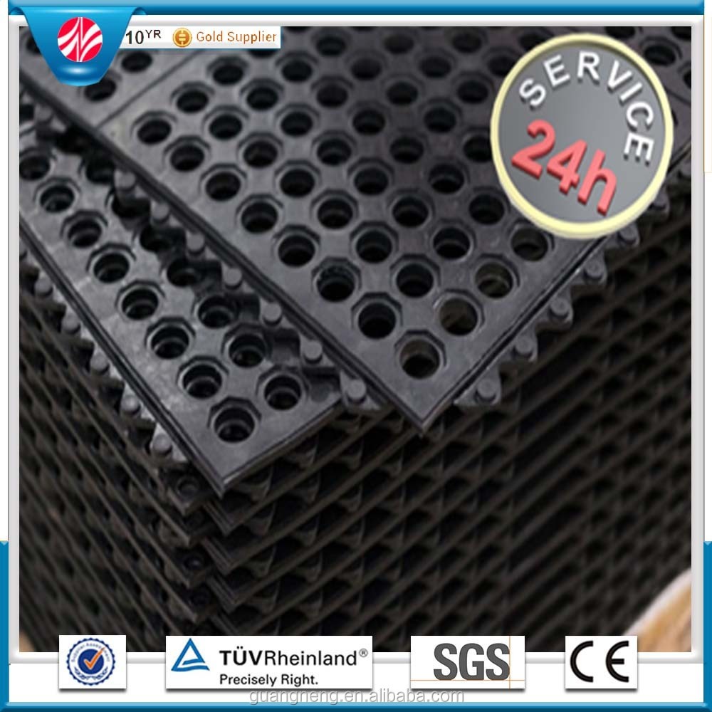 industrial kitchen mat customized Interlocking Rubber Floor Tile, 12mm thick