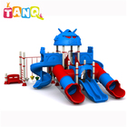Small play park games for kids, children amusement outdoor cartoon playground equipment