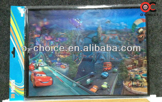 ZB-3 Popular 3d Beautiful Scenery And Car Picture Paper Painting