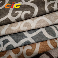 Anti-Static Jacquard Polyester Chenille Sofa fabric for Home Textile