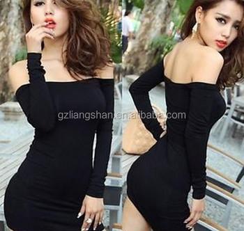 1787c5eade98 Most beautiful evening dress designer evening dress patterns off shoulder  black sexy revealing evening dress