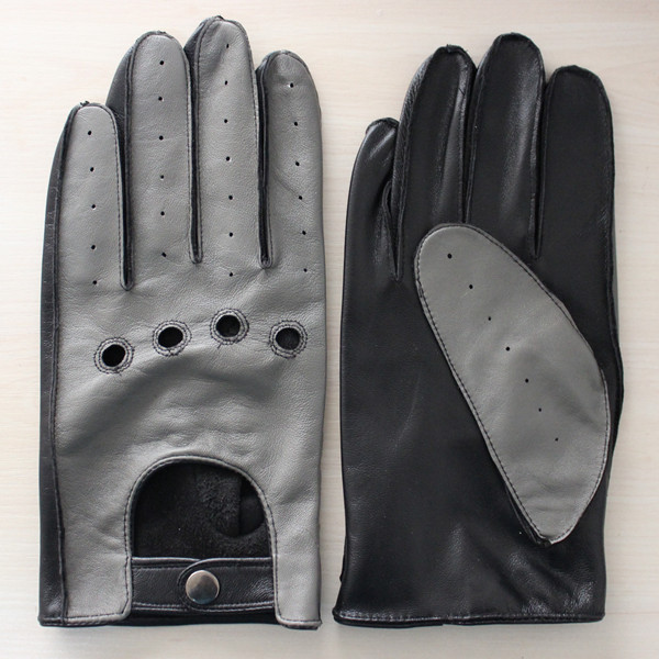 mens fashion high quality leather driving glove