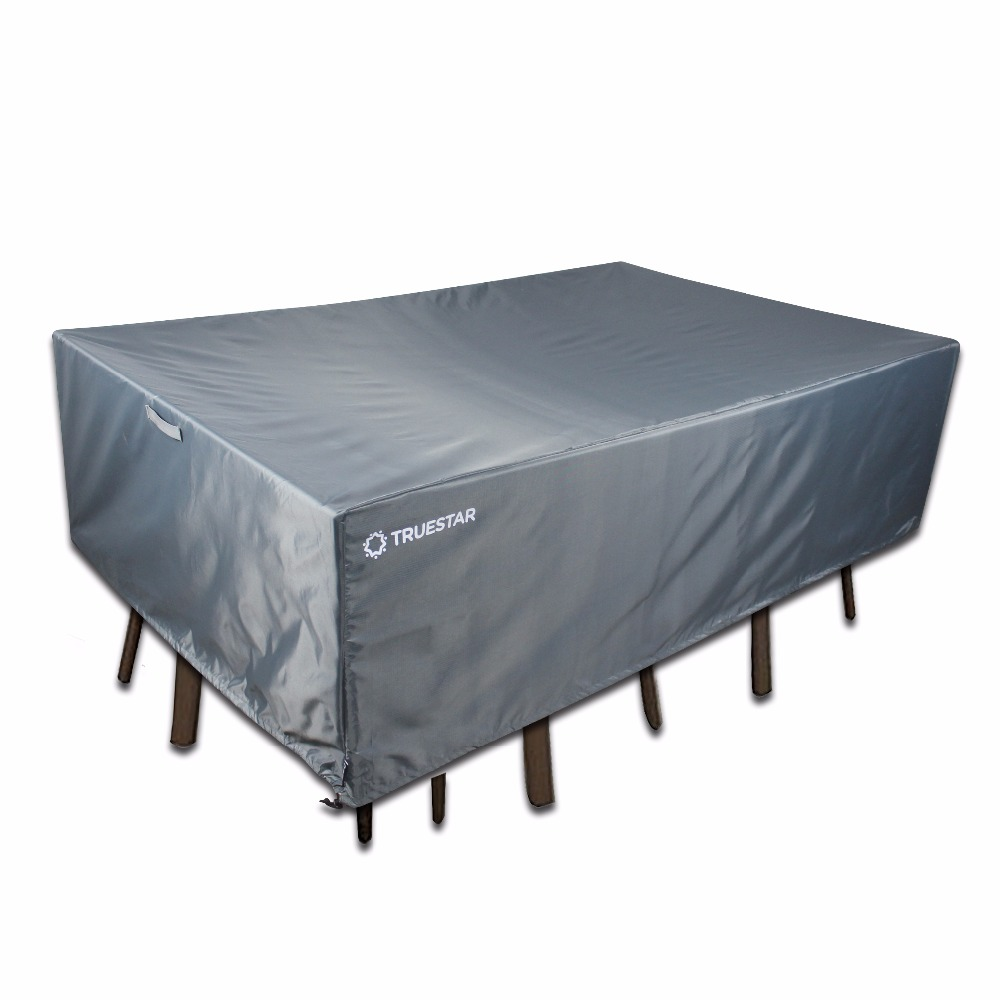 210d Waterproof Outdoor Table Furniture Cover With Pu Coating Fabric