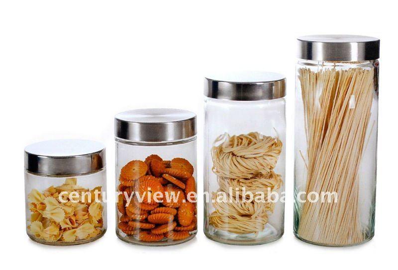 Round Clear Kitchen Storage Jar Set