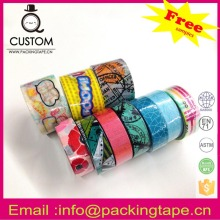 No residue washi tape graphic for gift packaging
