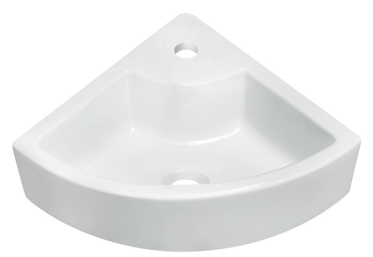 American Imaginations Unique Shape Vessel, Comes with an Enamel Glaze Finish in White Color and Designed for a Single Hole Faucet