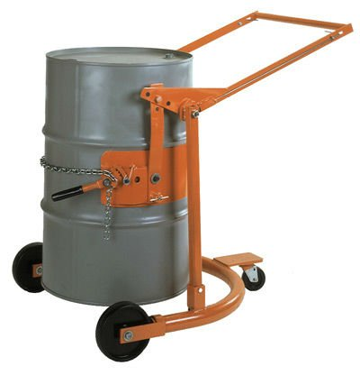 Drum handling car DRUM TRUCK porter cable air compressor can easily transport 55 gallon steel or plastic drums