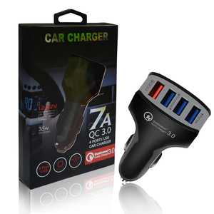 Car Charger, 4 Port High-Speed 7A 35W USB Car Charger Auto Adapter for Samsung Galaxy S6 and S6 Edge Apple iPhone 6 6 Plus 5s
