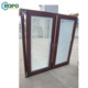 10 Year Warranty Double Glass PVC/UPVC Wooden Color Tilt Turn Window With Blinds In