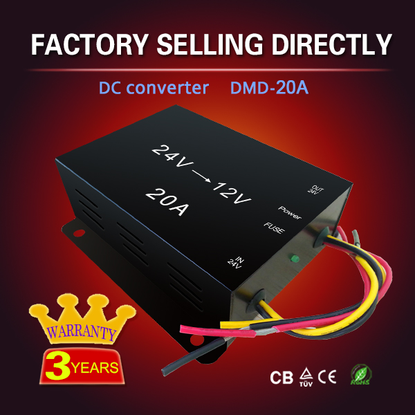 Top quality 20A dc24v to dc12v converter