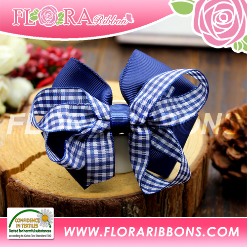 New Arrival spring ribbon bowknot hair clips, baby girl hair clips