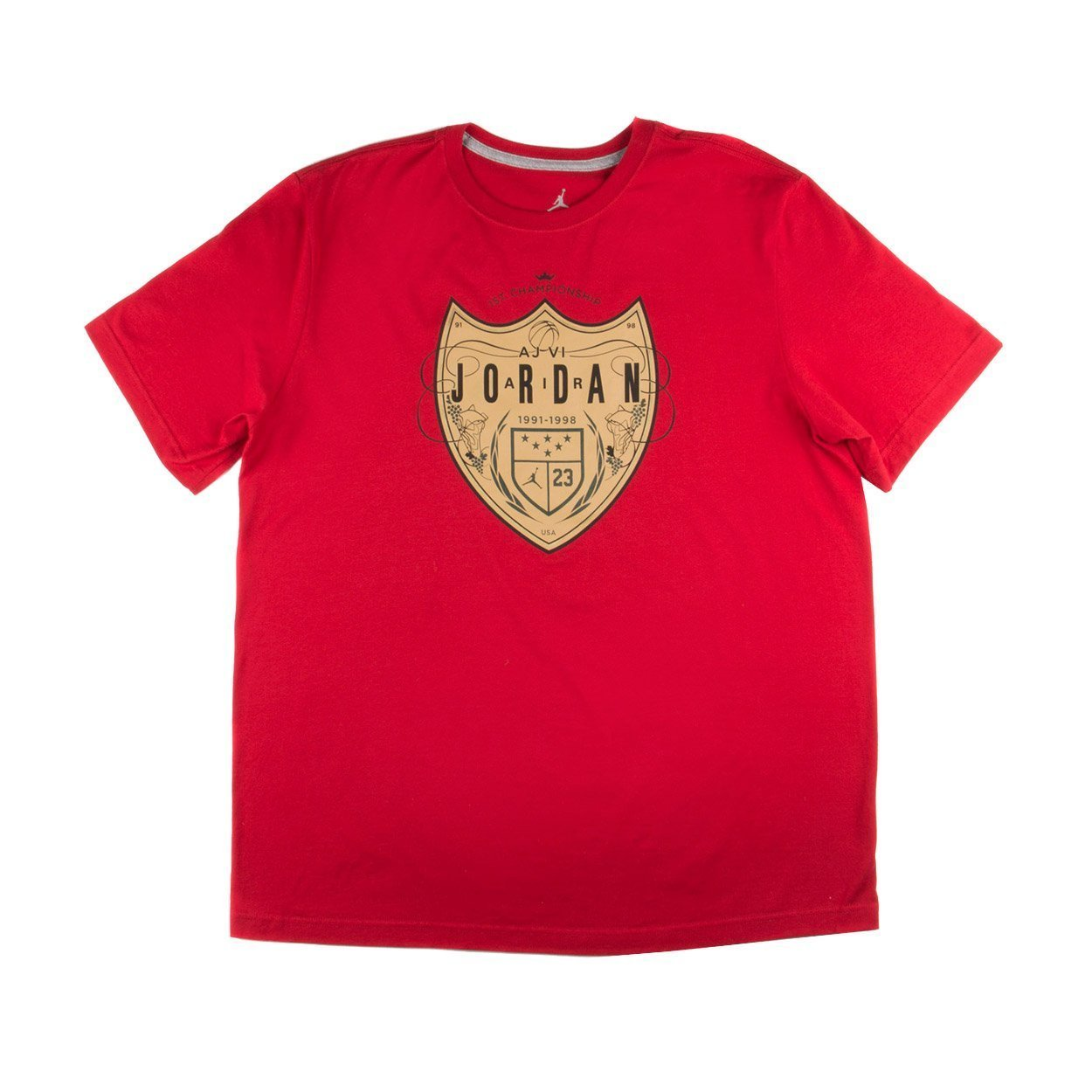 d623ef0d8e0d Get Quotations · Jordan Men s Jordan Champagne T-Shirt X-Large Red