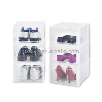 Clear Shoe Storage Boxes.Clear Shoe Storage Box 6 Pieces Plastic Drop Front Shoe Box Buy Drop Front Box Shoe Box Drop Front Shoe Box Product On Alibaba Com