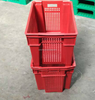 Outdoor mesh stackable vegetable plastic crate with hole