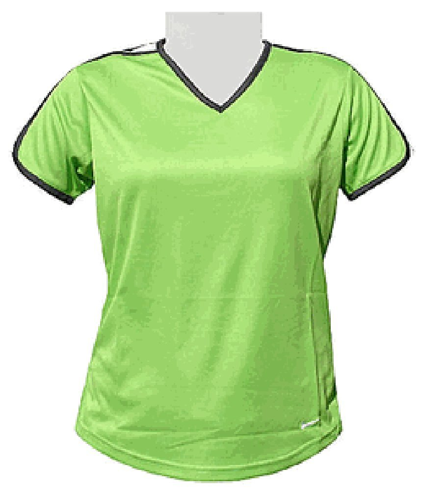 a88fe1a77 Get Quotations · Nike Women's Radiant Green Dri-FIT Tempo Short Sleeve  Running Top