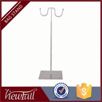 Wholesale free showing chrome mirror or matte height adjustable necklace earring display stand holder for showcase