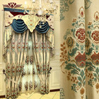 Chenille valance European jacquard high Precision cotton and linen curtain fabric