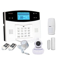 433Mhz GSM+PSTN Dual Network Smart Alarm System Home Security With IOS And Android APP Control