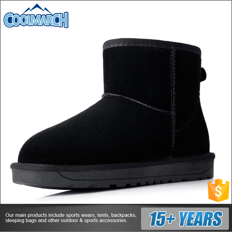 100% cow leather /polyester/PVC/Suede/Lamy nubuck/sheepskin warm soft boots cheap snow boots