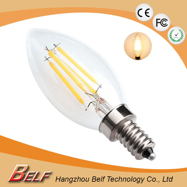 Clear Finish c35 led lamp 220v <strong>e27</strong> at 2700k 6000k for home use