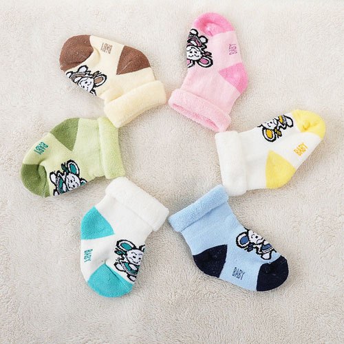 baby wear wholesale baby socks turn cuff terry baby booties tc17057
