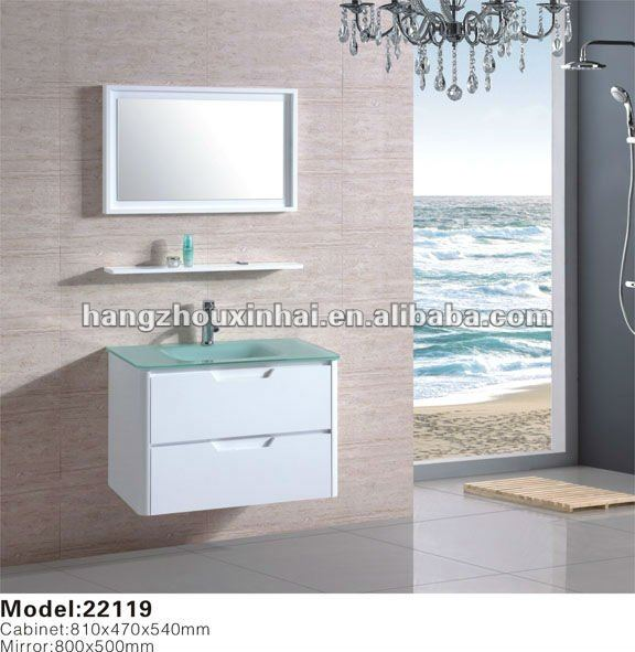 2012 newly design hot sell solid wood bathroom cabinet