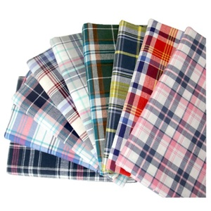 100% cotton woven yarn dyed gingham grid check dobby man shirt fabric in stock