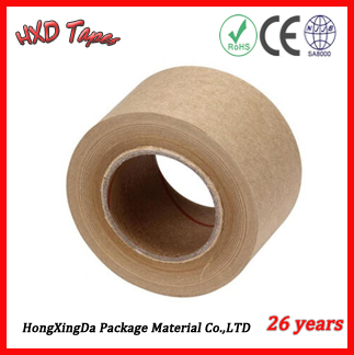Cheapest Price Reinforced Water Activated Gummed Kraft Paper Tape With free sample worldwide