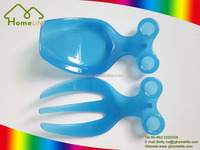 Hot sale popular new design colorful plastic salad spoon and fork set
