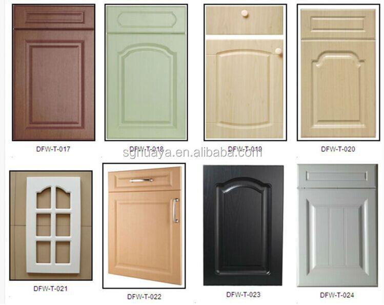 Pvc thermofoil kitchen cabinet door wood grain color buy for Wood grain kitchen doors