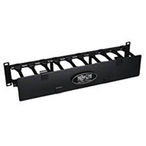 "Tripp Lite High Capacity Horizontal Cable Manager - Rack Cable Management Duct With Cover (Horizontal) - Black - 2U - 19"" ""Product Type: Supplies & Accessories/Wiring Management"""