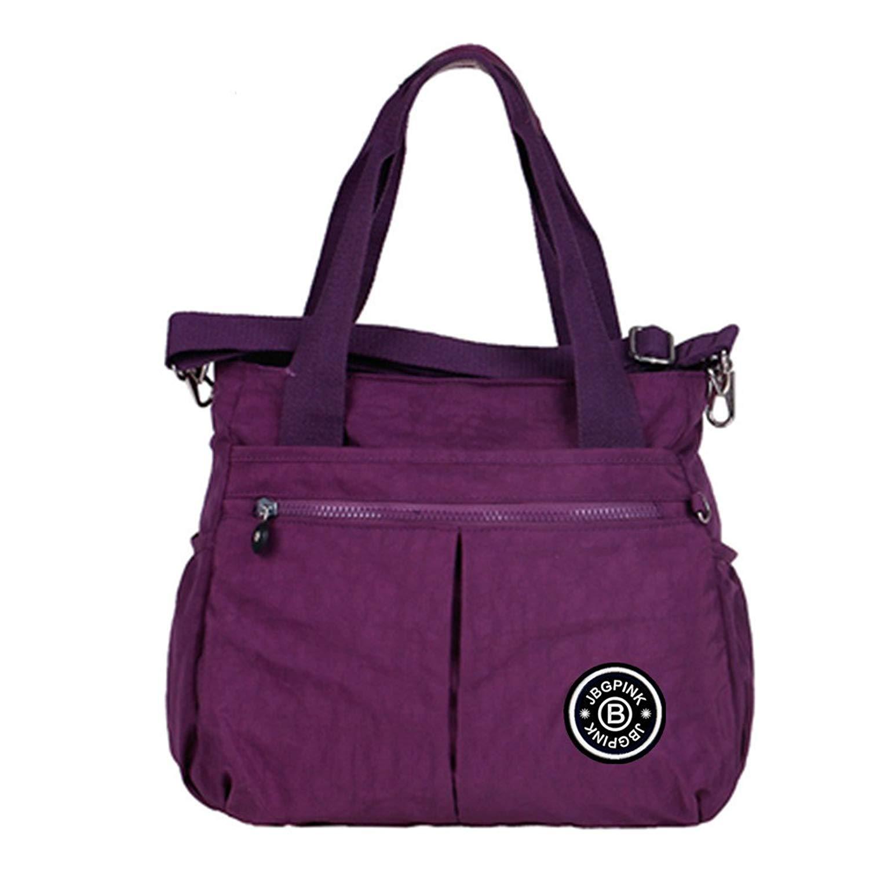 Women Shoulder Bags 3 Compartment Multi-pocket Lightweight Nylon Crossbody TotesTop-Handle Bags