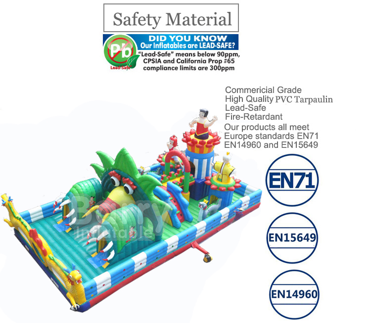 Jungle inflatable toddler playground, inflatable playground for toddler